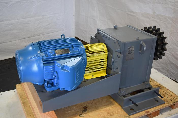 Used Falk UltraMax Gear Drive 44RPM, used 75HP Falk 44 rpm gear box, 44rpm gear reducer use, ratio 44.24,