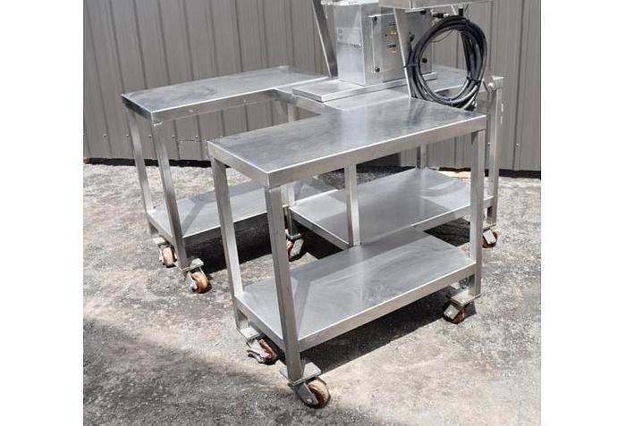USED PISTON FILLER, SINGLE HEAD, WITH JACKETED BOWL & MIXER