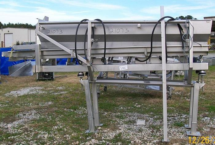 """Used Smalley Vibrating Conveyor; 24""""Wx131""""L"""