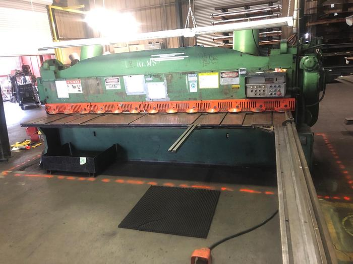 "Used 1997 1/4"" x 12' Cincinnati 2CC12 Mechanical Shear"