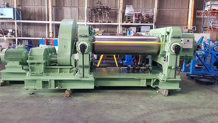 Used 1980 Berstorff 660mm dia X 2100mm two roll mill