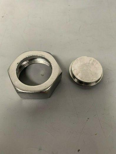 """Used 1.75"""" Stainless Steel Hex Nut w/ Endcap"""