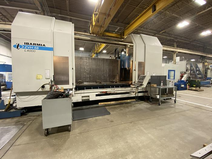 2009 IBARMIA Model ZVH58L4000 with Heidenhain iTNC530 CNC Traveling Column 5X Vertical Machining Center