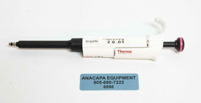 Used Thermo Scientific 4641180 F1-ClipTip Variable Volume 2-20 ul Pipette (6998) R