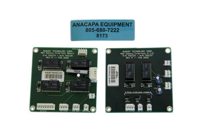 Used August Technology 702124 REV.A, 702126 REV.B NSX Safety Interlocks I/O (8173)W