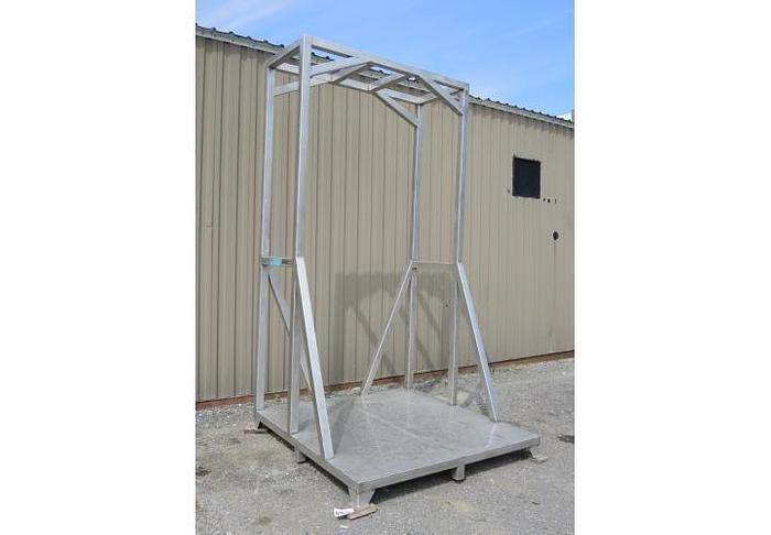 Used USED STAINLESS STEEL FRAME, 76'' X 76'' X 142'' HIGH