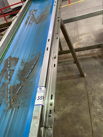 Used Stainless Steel Incline Conveyor 6m L 0.55m W 1.4m H