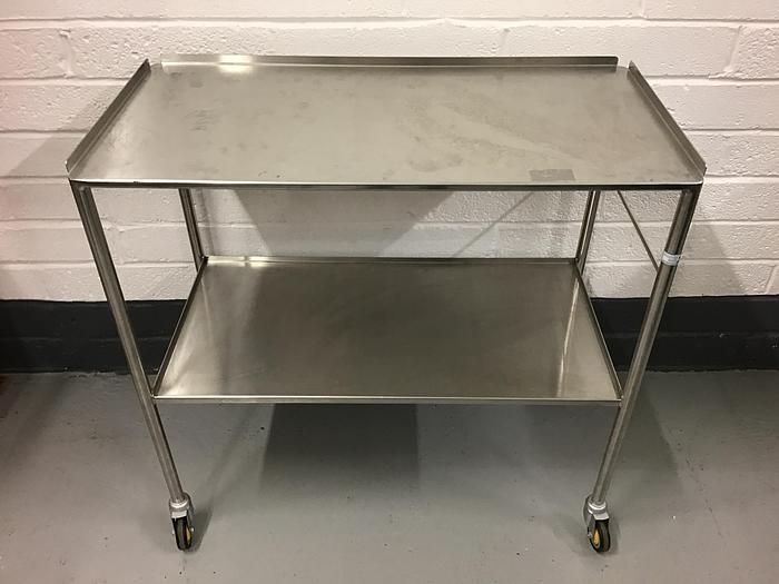 Used Trolley stainless steel 2 shelves 920x470mm