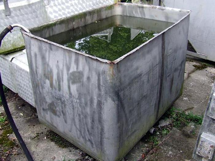 Used Zbiornik prostokątny, otwarty - nierdzewny