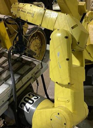 Used FANUC LR MATE 200iC/5L 6 AXIS CNC ROBOT WITH R30iA CONTROLLER