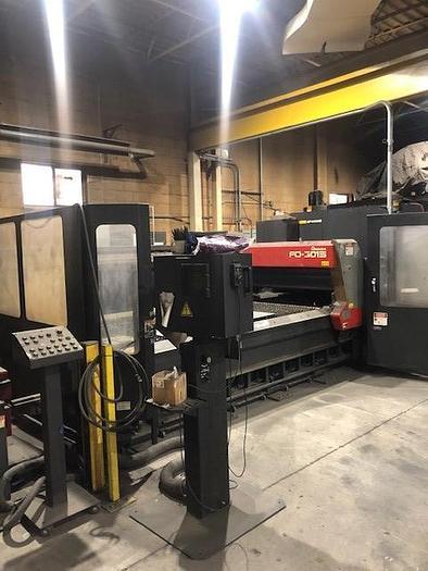 Used 4000 WATT, AMADA, FO-3015, 5' X 10', CNC LASER