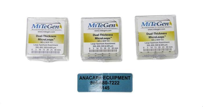 MiTeGen M5-L18SP-A5, Dual-Thickness MicroLoops Apertures Lot of 3 (20 ea.) (8145