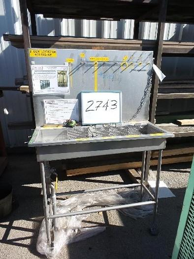 Used Stainless Steel Sink 12'' x 40'' long x 5 1/2'' deep #2743