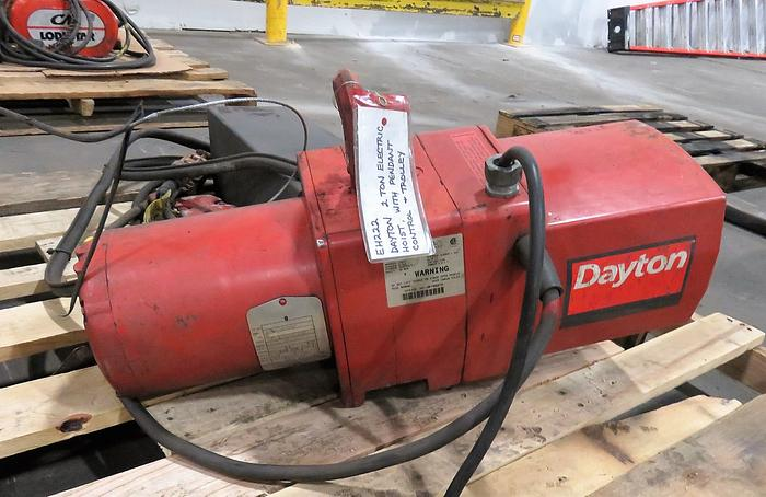 DAYTON 3 TON ELECTRIC HOIST