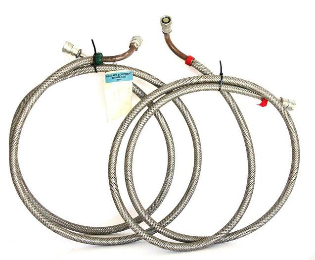 Used CTI-Cryogenics 10' Helium Supply and Return Line, SS Lot of 2 (8014)W