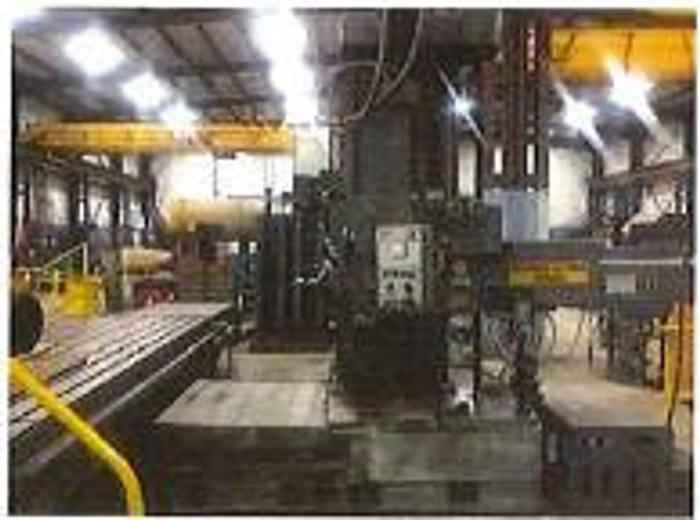 """Used  5"""" Giddings & Lewis Fraser , Model DP5-T Boring Mill, Table 60, X 144, X Travel-131"""", Y Travel-60"""", 50 Taper, 1000 RPM, 30 HP"""