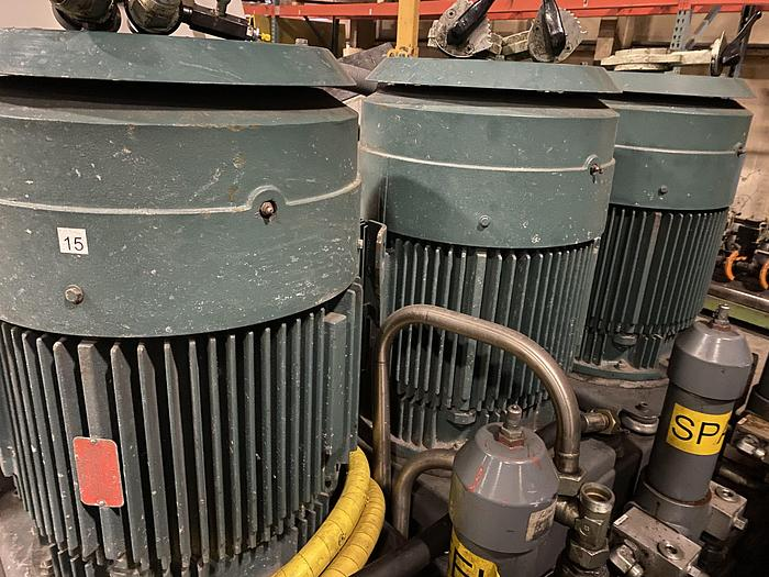 Used SET OF THREE 100 HP MOTORS