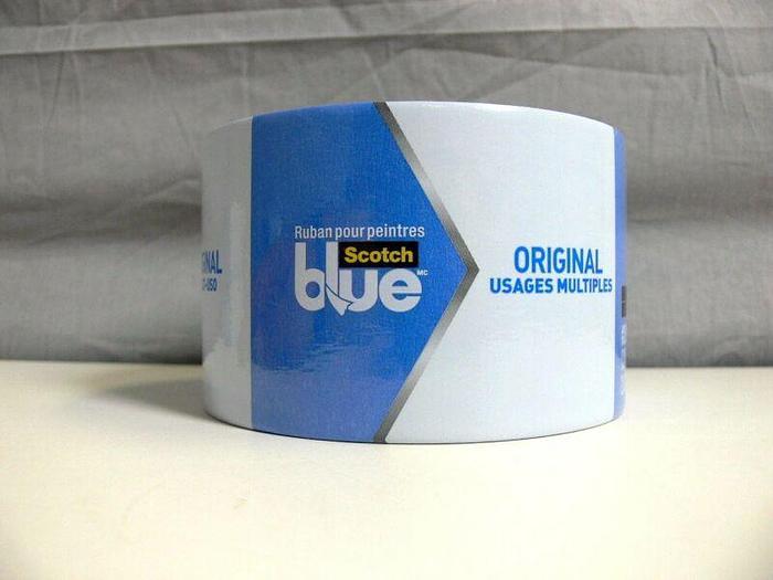 "Used 3M Scotch Original Blue Painter's Multi-use Tape #2090  2.83"" x 60 yards"