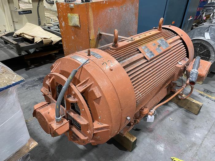 Used 500 HP AC MOTOR 1105 RPM REBUILT 2018