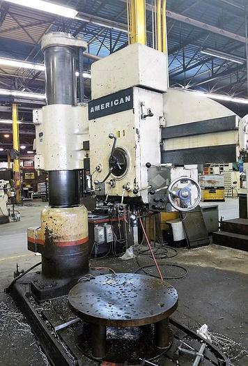 "Used 1965 American Radial Drill, Model 15, 60"" Arm, 15"" Columnn, ID16921"