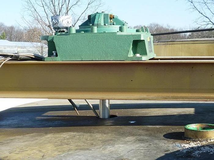 USED 5040 GALLON TANK, CARBON STEEL, WITH 3 HP MIXER