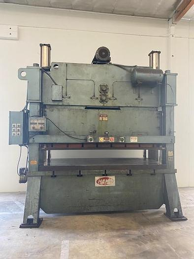 """Used Heim 200 Ton Straight Side Punch Press 42"""" x 102"""" Bed #5956"""