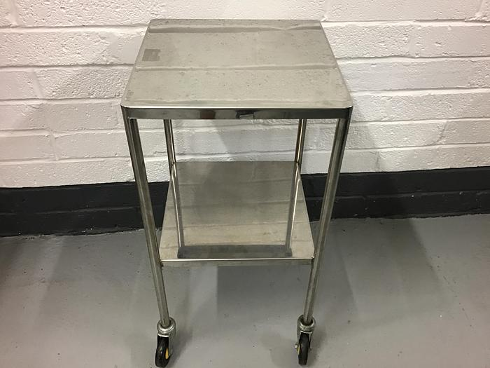 Used Trolley stainless steel 2 shelves 450x450mm