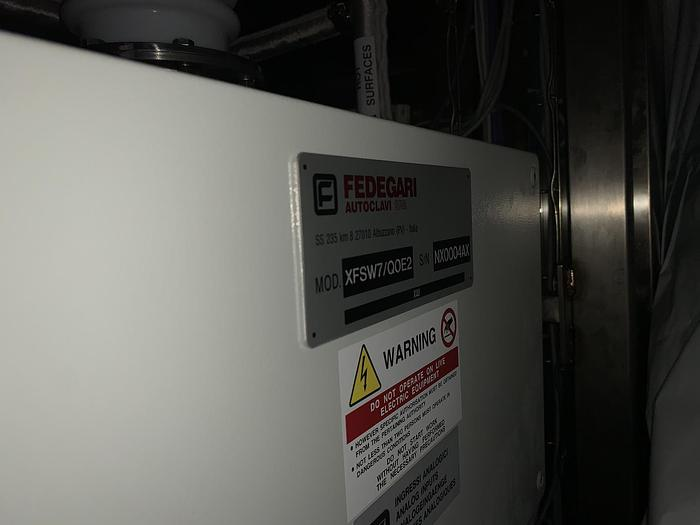 New Unused 2016 FEDEGARI XFSW7/Q0E2 Pass Through Eco-Steam Washer