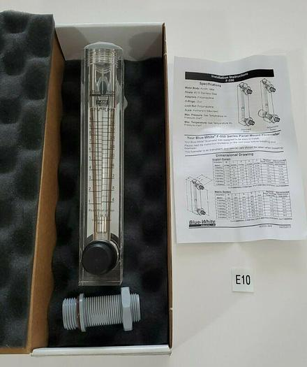 """*NEW IN BOX* Blue-White Flow Meter F-55750LA 3/4"""" MNPT 1-10GPM Adj. + Warranty!"""