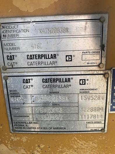 2000 CATERPILLAR 416C