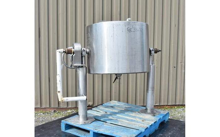 USED 50 GALLON JACKETED TILTING KETTLE, STAINLESS STEEL