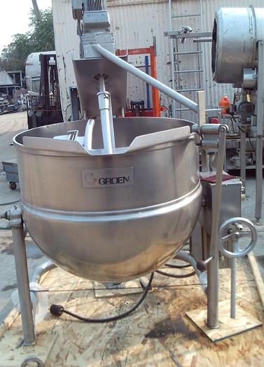Used 80 GALLON GROEN SCRAPE SURFACE KETTLE – 316 S/S – JACKETED (#9787)