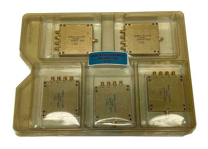 Mini-Circuits 15542, ZN4PD-920, Lot of 5, Four Way Power Splitter New (6715)W