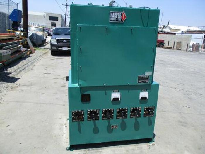 Used HARPER MODEL HOU- 4D-30-T-28 INDUSTRIAL TUBE FURNACE 1500 DEGREES C 4 INCH DIA.