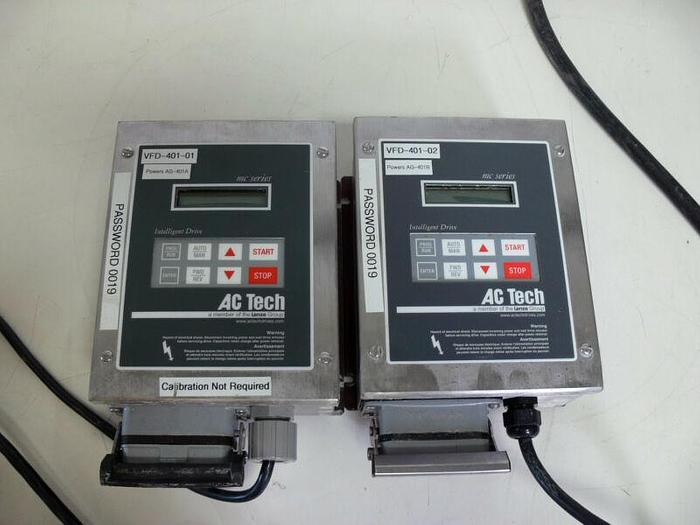 Used Lot of 2 AC Tech MC Series Intelligent Drive M1103SE IP65/ Type 4x .25HP .18KW