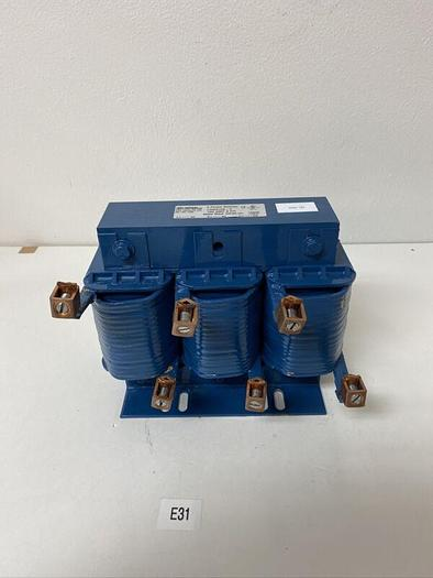 Used Preowned CONTROL TECHNIQUES LRM0100-C  100 AMP 3  PHASE LINE REACTOR  600V MAX