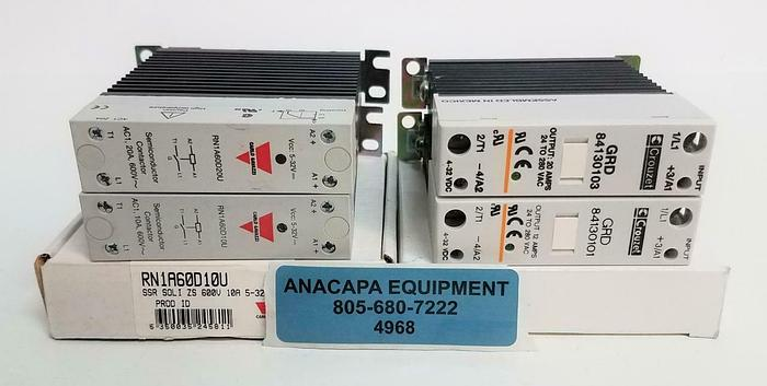 Used Crouzet Carlo Gavazzi LOT of 4 Solid State Relay DC Operated (4968)
