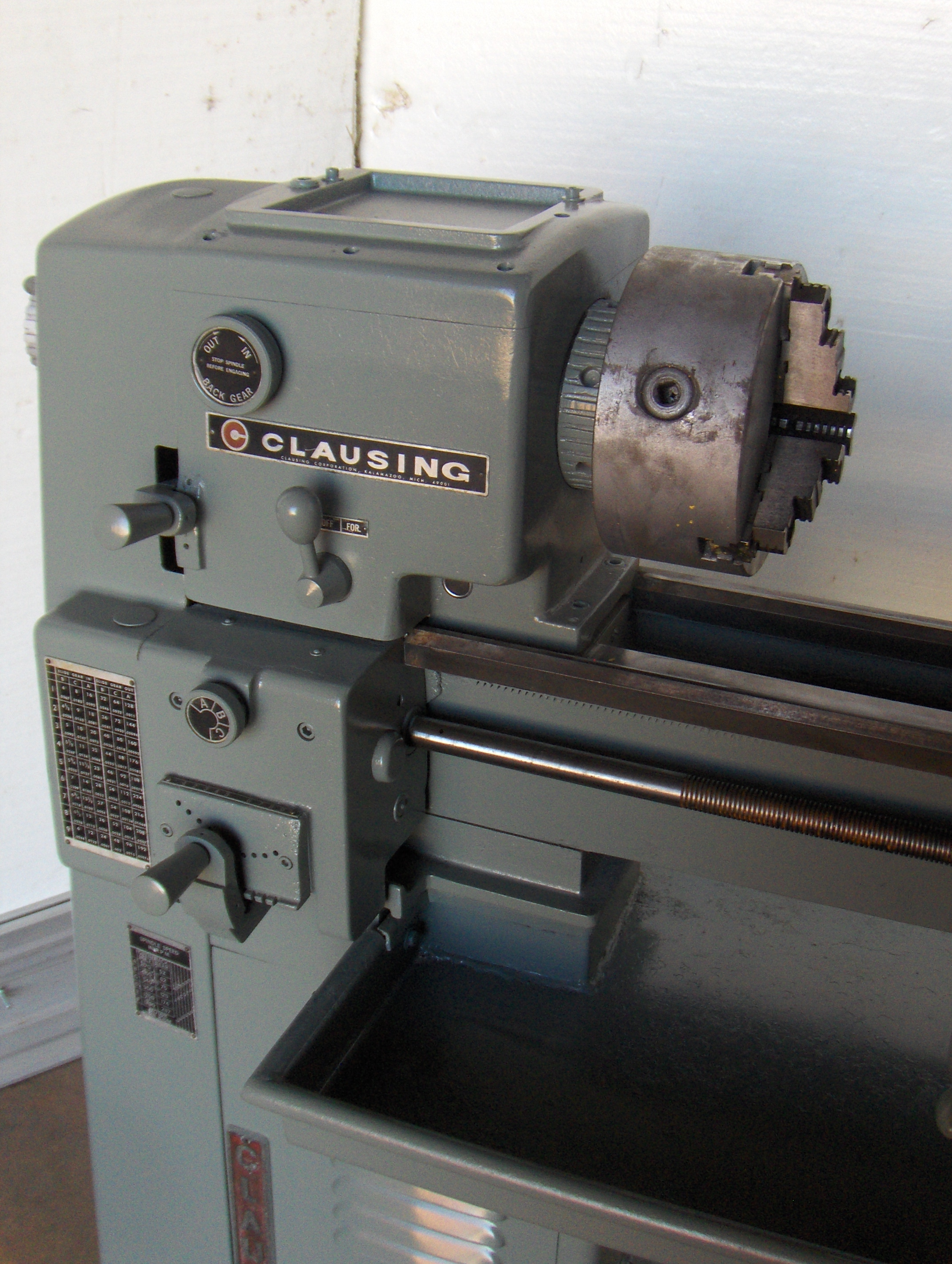 12 in. x 36 in. Clausing Toolroom Lathe