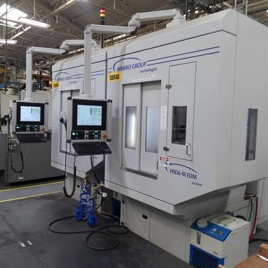 Used 2018 2- AVAILABLE WINBRO  MODEL HSD6-III HIGH SPEED 6 AXIS EDM DRILLING SYSTEMS