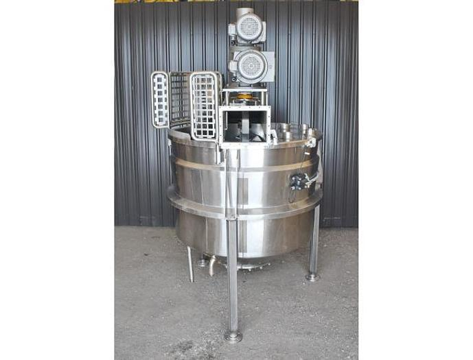 USED 750 GALLON JACKETED KETTLE, STAINLESS STEEL, WITH DOUBLE MOTION SWEEP AGITATION