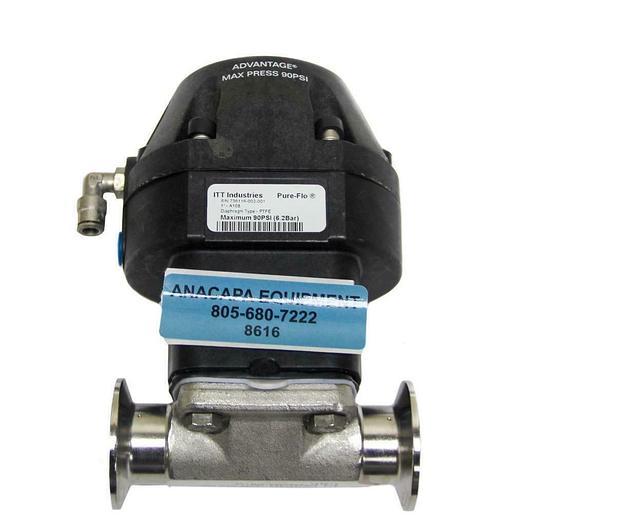 "Used ITT Pure-Flo 1"" A108 Advantage Actuator, 1-316L-RA20MAX-CWP150 (8616) W"