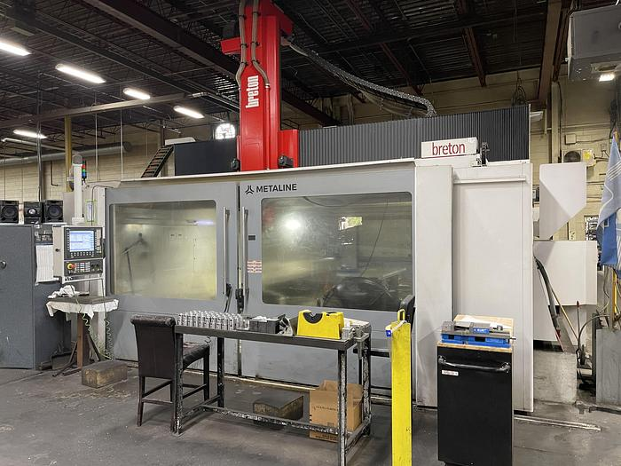 Used BRETON EAGLE 5 AXIS 1500/2T SK 60 VERTICAL GANTRY MACHINING CENTER -2018