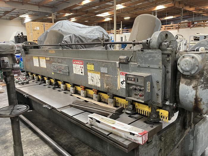 "Used 3/16"" x 12' Cincinnati 1412 Mechanical Shear"