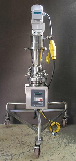Used Charles Ross 2 Liter Mixer Jacketed Electropolished w Ribbon Blade AC Controller