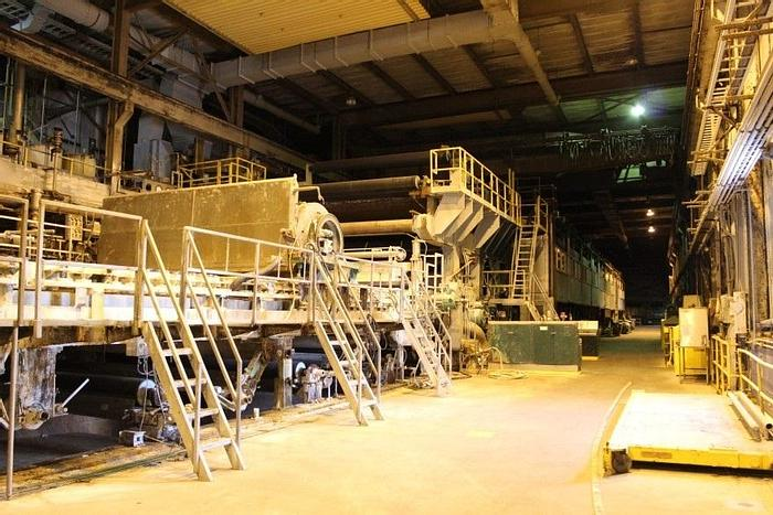 """Used 180"""" (160"""" TRIM) FOURDRINIER PAPER MACHINE 2,200 FPM NEW DRIVE SYSTEM IN 2008"""