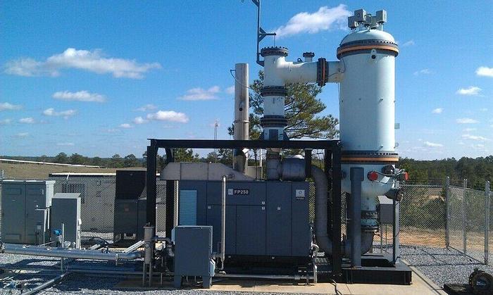 ENER-CORE MDL EC-250 ECOSTATION 250 KW TURBINE POWER GENERATION SYSTEM OXYDIZER