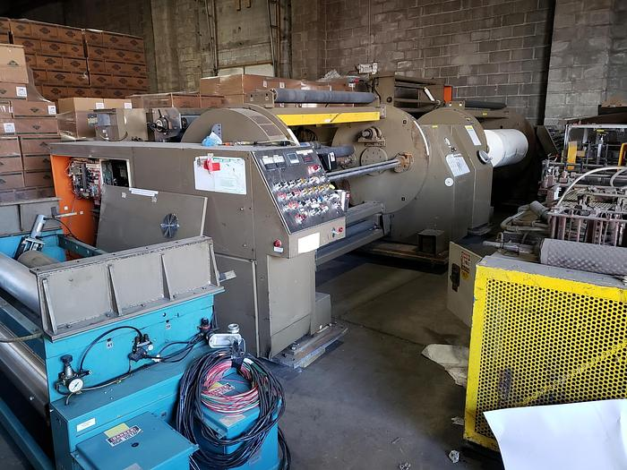 """Used 56"""" WIDE PCMC TURRET REWIND WITH SLITTING"""