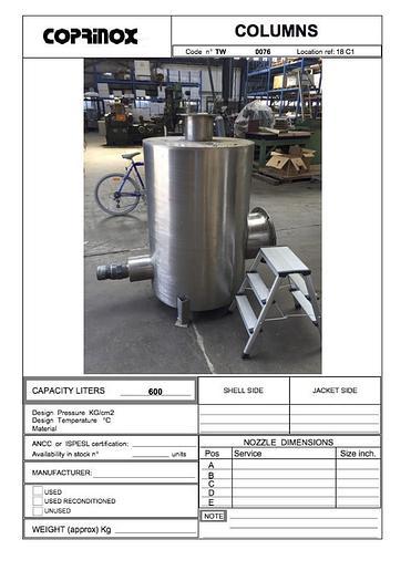 Usata Colonna a carboni attivi per depurazione aria