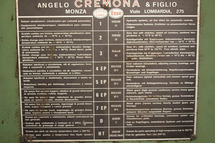 1984 Angelo & cremona TZE4600 + ESA1