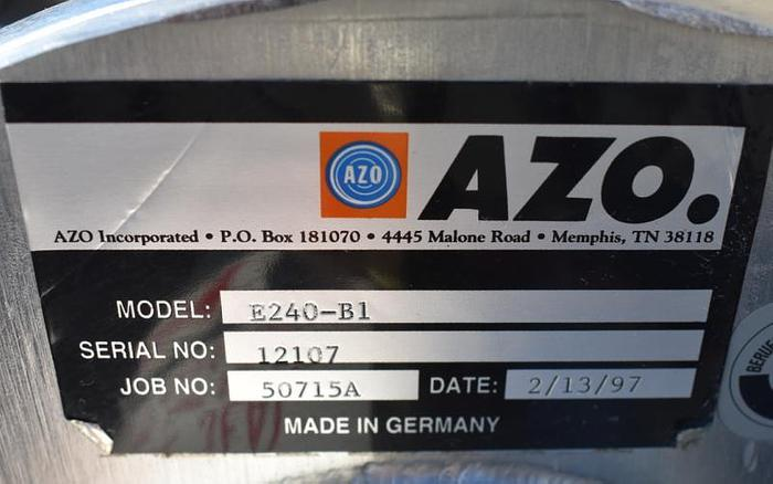 USED AZO CYCLONE SCREEN, ROTARY SCREEN, STAINLESS STEEL